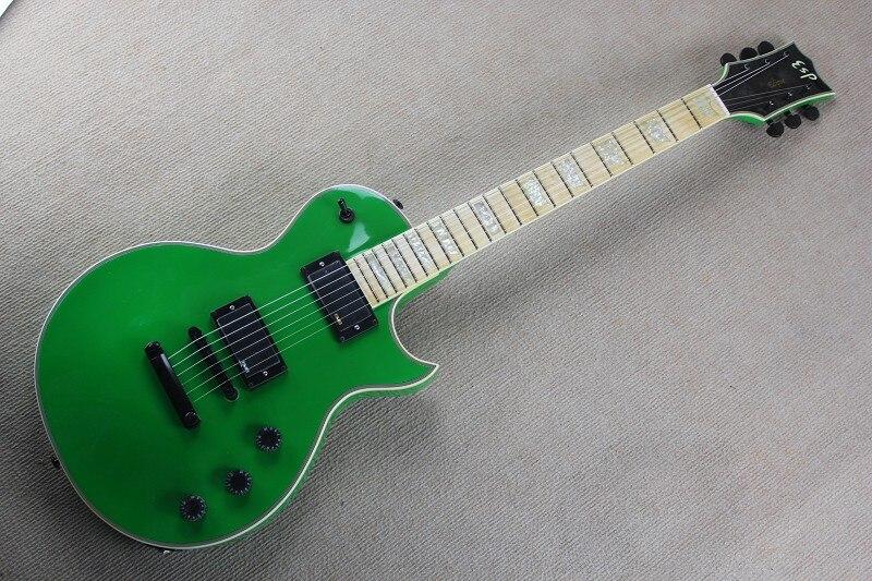Top Quality ESP standar Eclipse vinatge green CUSTOM SHOP EMG pickup Maple fingerboard electric guitar 141110