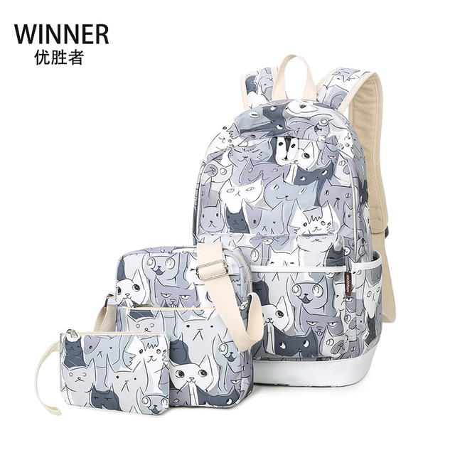 ae7173fb20ae Original Brand Cat Backpack Kids High Schoolbag Cool Child Student Boy  Teenagers School Bag Bookbag Travel Rucksack Girls Gift