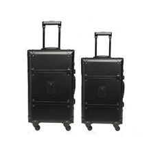 New Men and Women Vintage Trolley Luggage Bag PU Leather Travel Suitcase Mute Caster Luggage 22″ 24″ Rolling Luggage