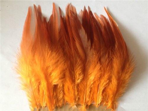 Горячая распродажа! 50 шт синее перо фазана, длина 10-15 см, DIY украшения для ювелирных изделий - Цвет: Orange