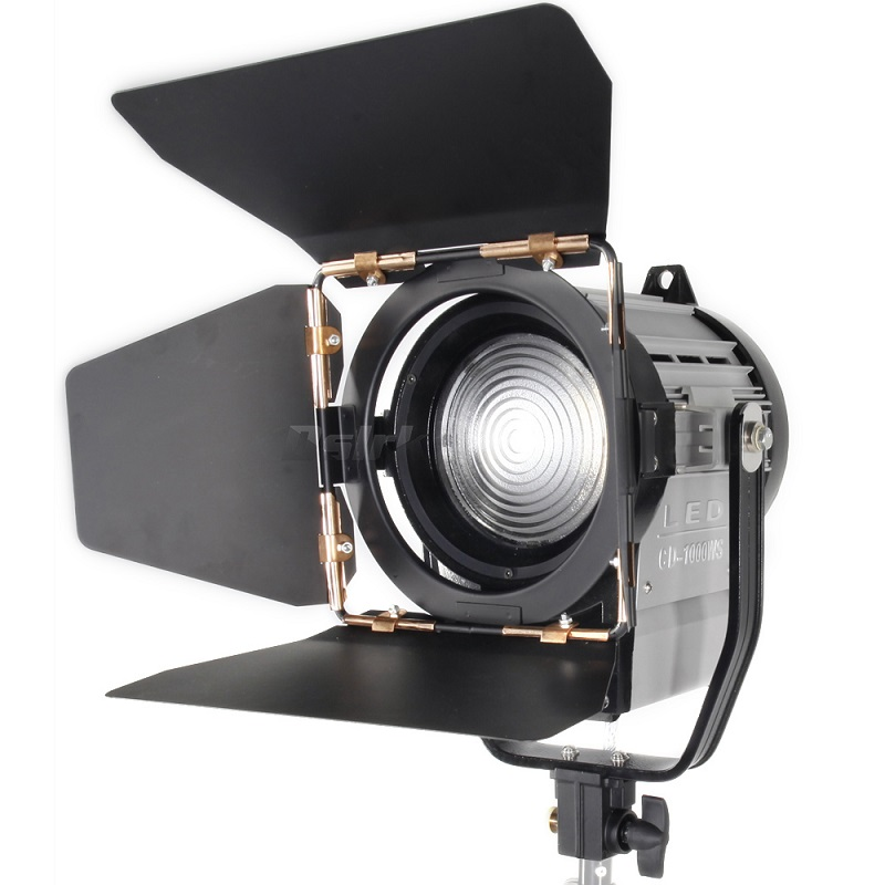 цена на ASHANKS 100W LED Spot Light Dimmable Bi-color Spotlight Studio Fresnel LED Light 3200-5500K for Studio Photo Video Lighting