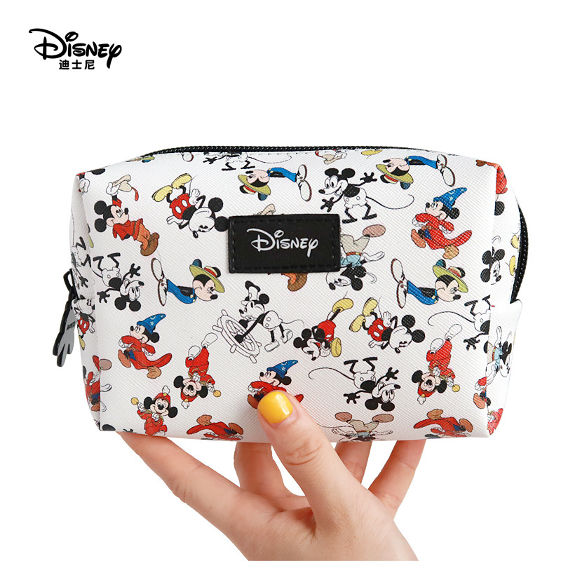 Genuine Disney New Mickey Mouse Fashion Cosmetic Bag Multi-function Women Bag Purse Bag For Girls Gifts Free Dropshipping