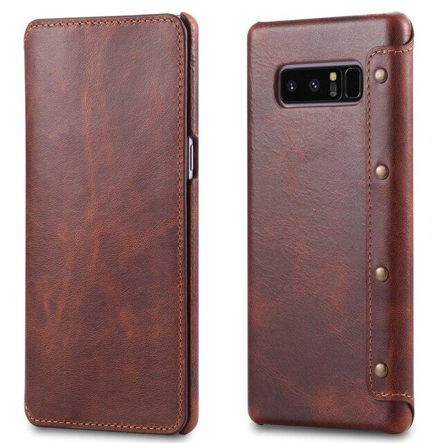 جراب هاتف جلدي أصلي فاخر لهاتف Samsung S10 S10Plus ، جراب لهاتف Samsung Galaxy S9 S10 Plus ، جراب لهاتف Samsung Note 9 S10e