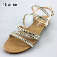 Doupan 2018 New Sandals Women String Bead Silver Sexy Shoes For Women Flip Flops