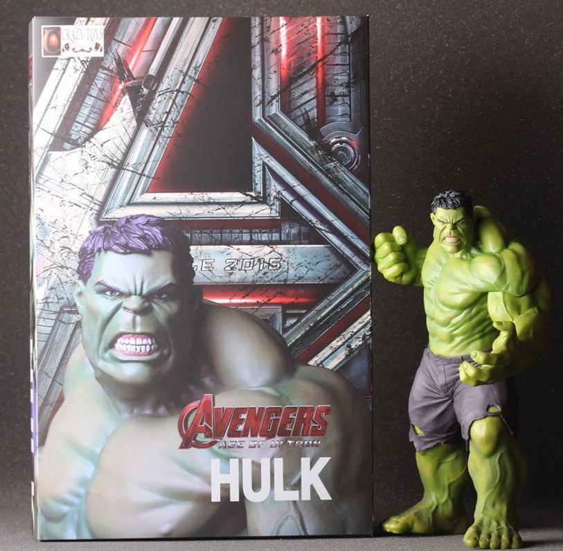 Limited 24CM The Avengers 2 Hulk the base luminous Doll Car Home Interior PVC Action Figure Garage Kit doll Model Collection Toy