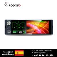 Podofo 1 din MP5 player 4.1'' touch screen HD capacitive screen Car single set MP5 RDS Radio P5130