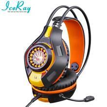 IceRay Estéreo Bass Auriculares de Juegos de Ordenador Auricular Con Micrófono Para Pc Gamer