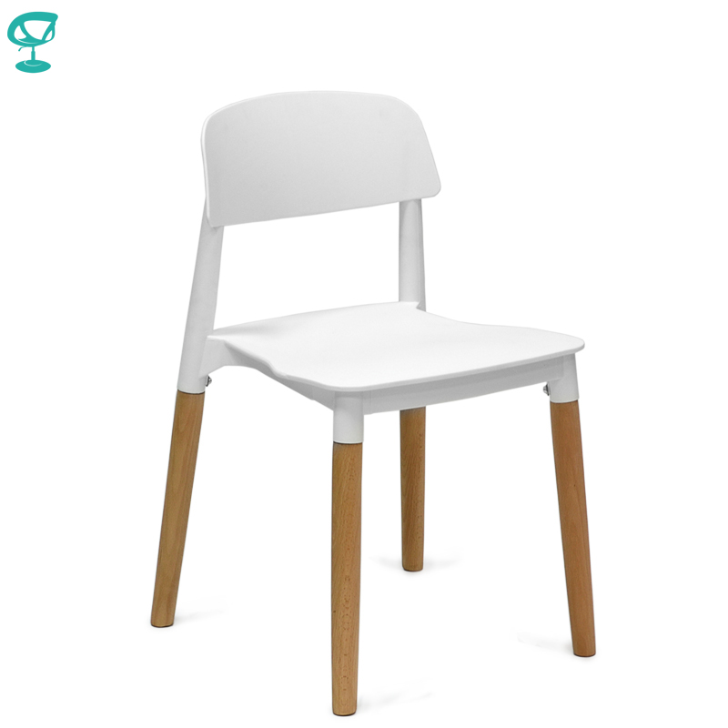 94931 Barneo N-220 Plastic Wood Kitchen Breakfast Interior Stool Bar Chair Kitchen Furniture White Free Shipping In Russia