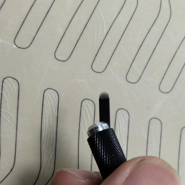 0.16mm 18 U-Shape Nano Microblading needle blade tattoo needles for Permanent Makeup Eyebrow tebori pen agulhas with Lot No. Exp 3