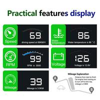 M9 5.5Inch OBD HUD Car Head Up Display On Board Computer hud Display Car Electronics obd2 Car Speedometer Windshield Projector