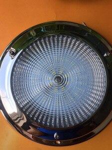 Image 2 - 12 В светодиодный купольный светильник из нержавеющей стали для морской лодки, яхты, фургона, дома на колесах, 4/5 дюймов, потолочный светильник для салона автомобиля