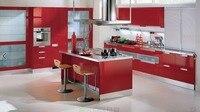 2017 горячей продажи высокий глянец, лак кухонные шкафы белый цвет современный 2PAC кухня мебель L1606082