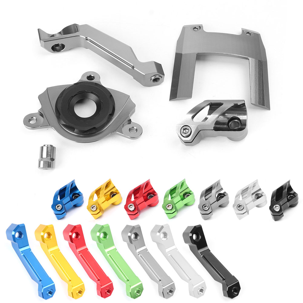For Kawasaki <font><b>Z1000</b></font> <font><b>2015</b></font> 2016 2017 Motorcycle Steering Damper Stabilizer Bracket Mounting Holder Set CNC Aluminum image