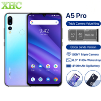 Global Version UMIDIGI A5 PRO Android 9.0 Octa Core Mobile Phone 6.3'FHD+ 16MP Triple Camera 4GB RAM Celular Dual SIM Smartphone