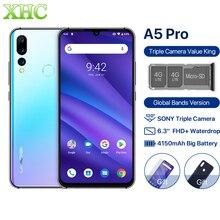 هاتف UMIDIGI A5 PRO إصدار عالمي يعمل بنظام الأندرويد 9.0 ثماني النواة هاتف محمول 6.3 FHD + 16MP كاميرا ثلاثية ذاكرة وصول عشوائي 4 جيجابايت هاتف ذكي بشريحتين