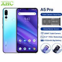 Versión Global UMIDIGI A5 PRO Android 9,0 Octa Core teléfono móvil 6,3 'FHD + 16MP Triple Cámara 4GB RAM Celular Dual SIM Smartphone