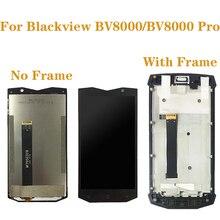 """5,0 """"оригинал для Blackview BV8000 lcd   кодирующий преобразователь сенсорного экрана в сборе для Blackview BV8000 Pro BV 8000 комплект для ремонта дисплея"""