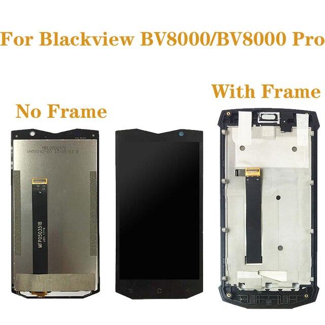 """5.0 """"الأصلي ل Blackview BV8000 LCD مجموعة المحولات الرقمية لشاشة تعمل بلمس ل Blackview BV8000 برو BV 8000 طقم تصليح العرض"""