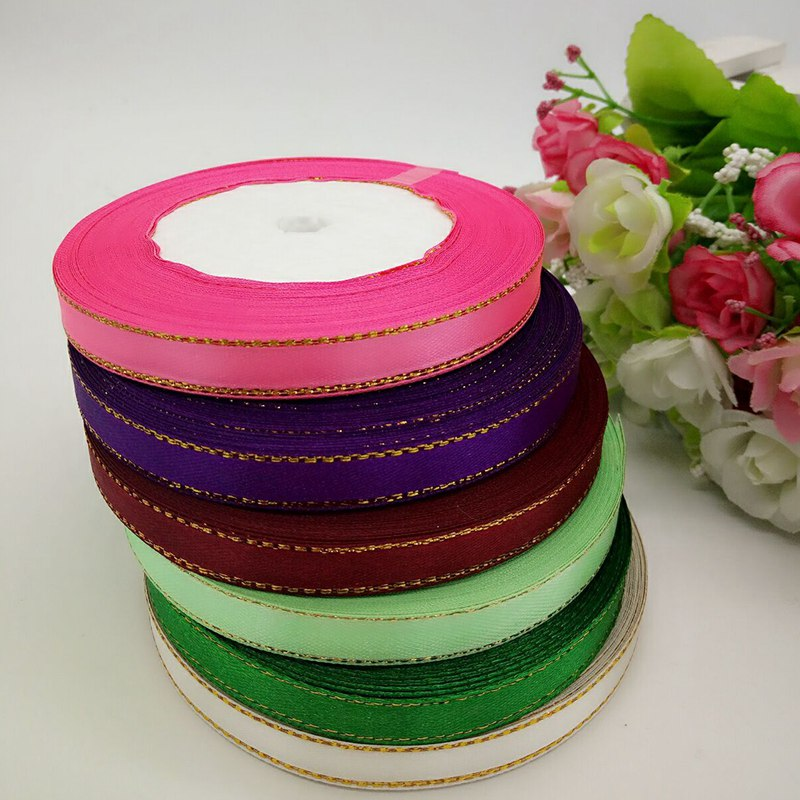 6 rolls (150 yards)mix color 3/8 width phnom penh satin ribbon wedding party decoration DIY crafts wrap ribbon A151
