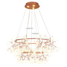 Nordic Style Fireflies Creative Decor Pendant Lamp Living Room Bedroom Luxury Lights Modern Home Light Fixture lustre