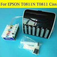 boma.ltd 6 Color/Set Ciss System For Epson T0811 T0816 T0811N For EPSON Stylus Photo 1410 1430W T50 R270 R290 RX590 Printer