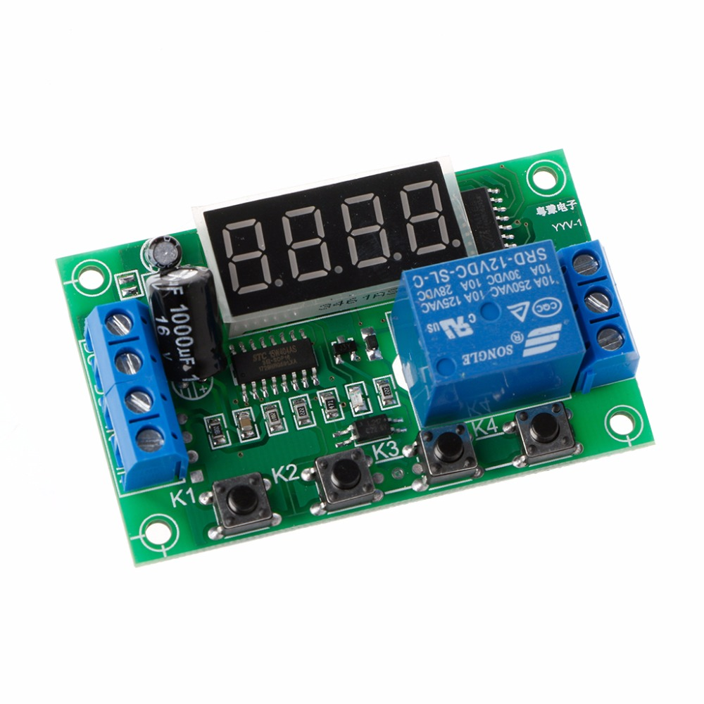DC 12V Charging Discharge Switch Control Module Voltage Monitor Switch Board dc 12v led display digital delay timer control switch module plc automation new