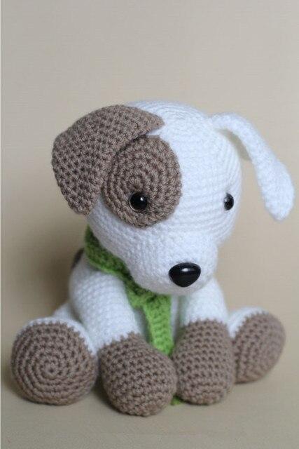 Haak baby Amigurumi hond rammelaar speelgoed baby gift Amigurumi dieren Baby speelgoed