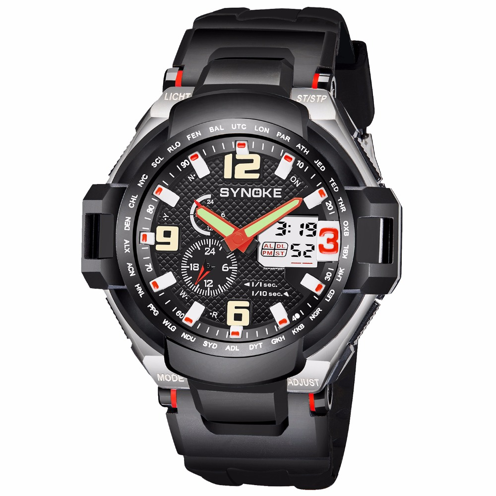 Men Military Watch 50m Waterproof Wristwatch LED Quartz Sports Clock Male Sport S Shock Watch Men Digital Relogios Masculino цены