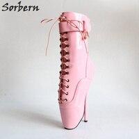 Sorbern детские розовые ботильоны балетные костюмы загрузки для женщин 18 см шпильки кружево до пинетки 2019 женщина на заказ широкий