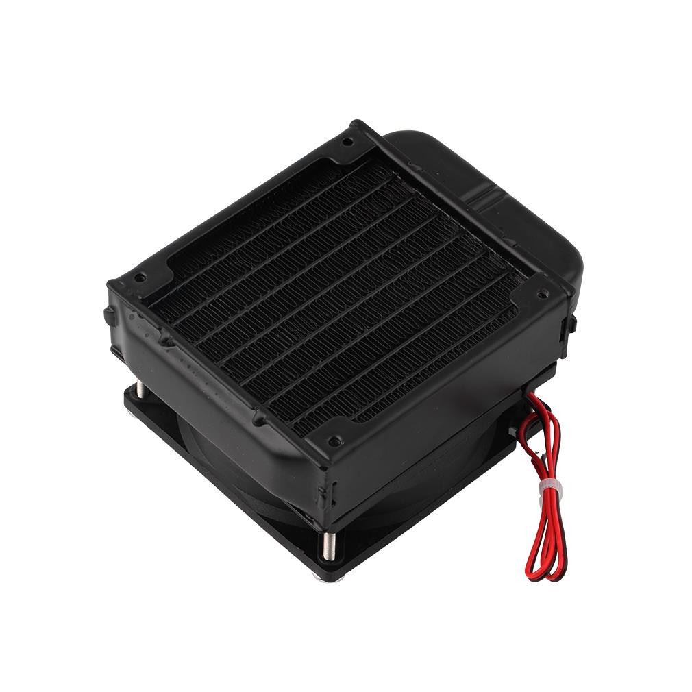 Aluminum 80mm Water Cooling cooled Row Heat Exchanger Radiator+Fan for CPU PC Eletronic Hot