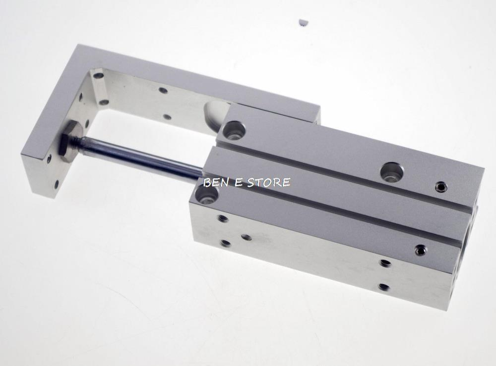 SMC Type MXH6-15 Compact Pneumatic Slide Cylinder Bore Size 6mm Stroke 15mm cxsm15 15 high quality double acting dual rod air cylinder pneumatic 15mm bore 15mm stroke cxsm 15 15 with slide bearing