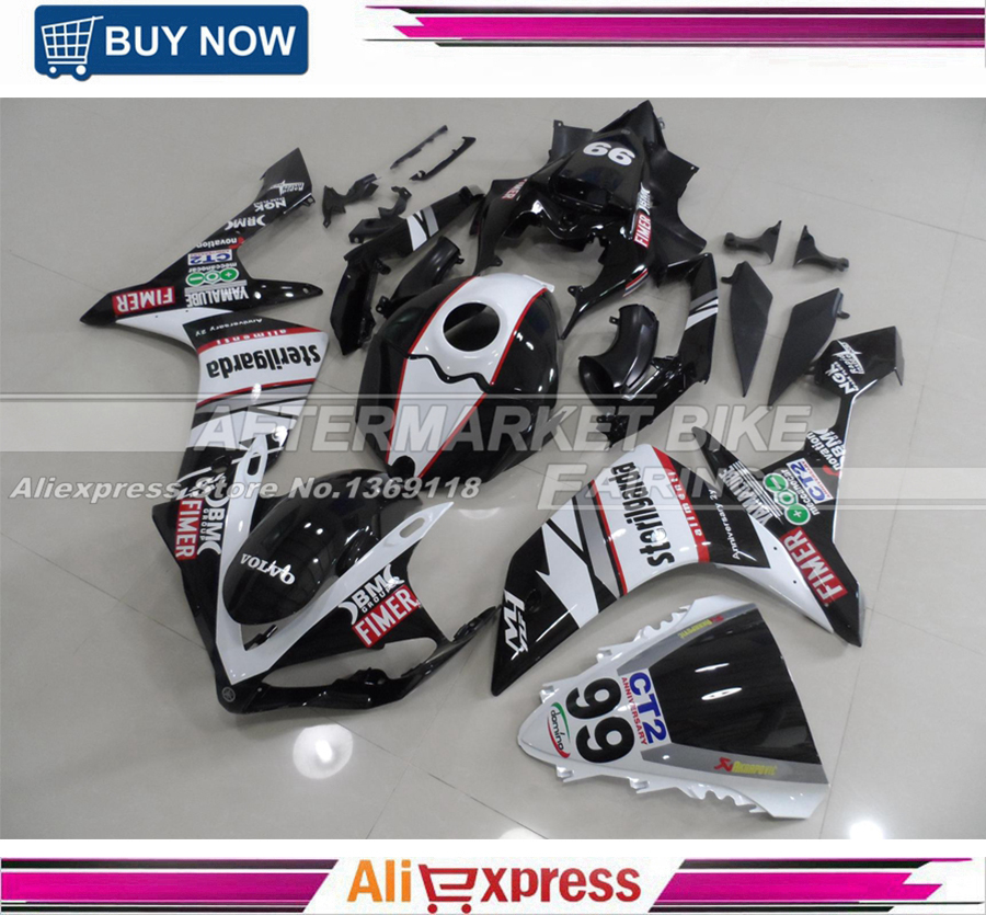 For Yamaha YZF R1 2007-2008 Aftermarket Motorcycle OEM Fitting STERILGARDA-99 Fairing Kits With Thick Clear Coats aftermarket free shipping motorcycle parts eliminator tidy tail for 2006 2007 2008 fz6 fazer 2007 2008b lack