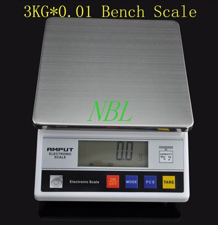 Balance de cuisson numérique, 3kg x 0.1g, comptage de 3000g 0.1g, Table, comptoir et laboratoire