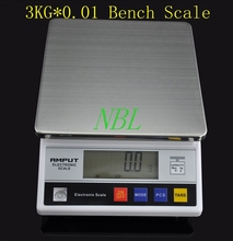 3kg x 0.1g Digital Kitchen Baking Scale Balance Counting 3000g 0.1g Electronic Bench Scales Table Top Laboratory Balance