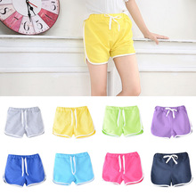 Kids Shorts Trousers Bottoms Candy-Color Girls Summer Boys Children Casual Unisex 3-13yrs