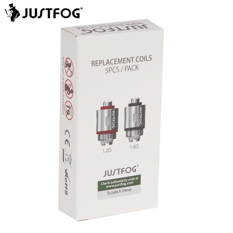 25pcs/lot JUSTFOG E-cigarette Kit Atomizer Core 1.6ohm 1.2ohm Replacement JUSTFOG Tank Coil For JUSTFOG Q16 Q14 P16A Vape Kit