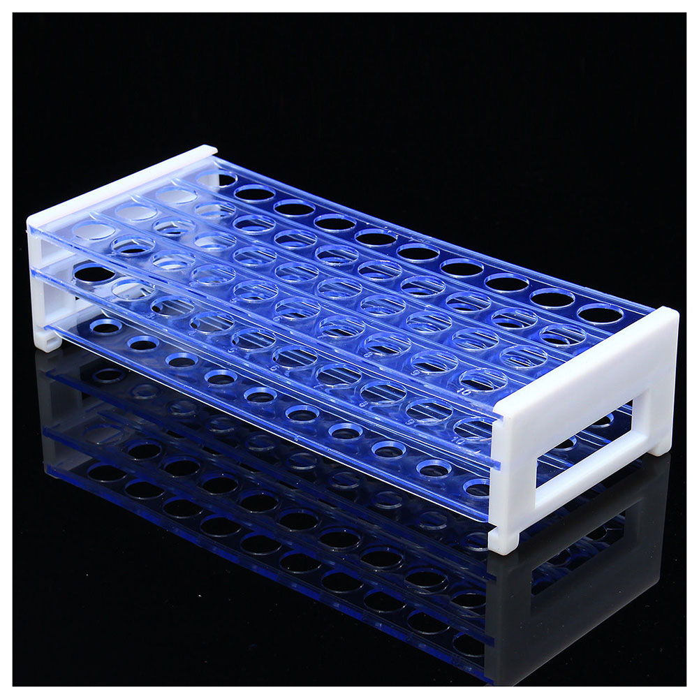 Plastic 3 Layers Lab Test Tube Rack Holder for 18mm Centrifugal Pipe Stand 40 HolesPlastic 3 Layers Lab Test Tube Rack Holder for 18mm Centrifugal Pipe Stand 40 Holes