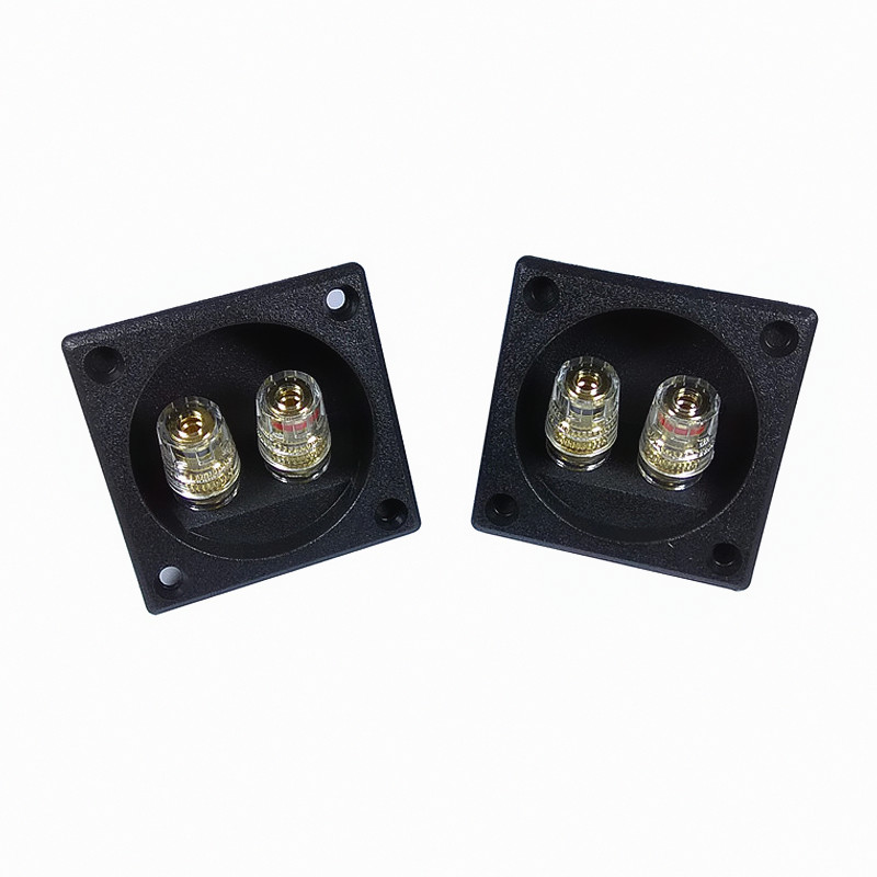 Finlemho SP50 Square Speaker Terminal Plate Double Binding Post Input For Home Theater Audio DIY HiFi Bookshelf