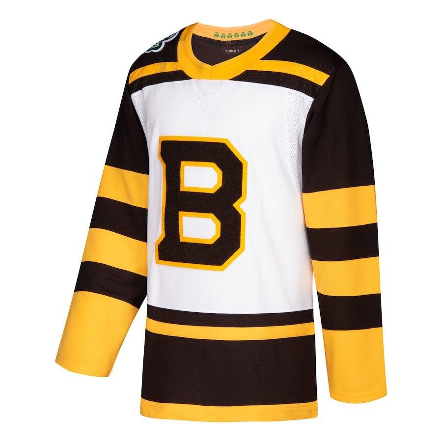 2019 Hommes de David Backes Patrice Bergeron David Pastrnak Zdeno Chara Brad Marchand Hockey Sur Glace Boston pom-pom girl Maillots