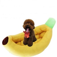 Cute Banana Bed Pet For Small Dogs Puppy Warm Cat Sofa Cushion Soft Pet Sleeping Bag