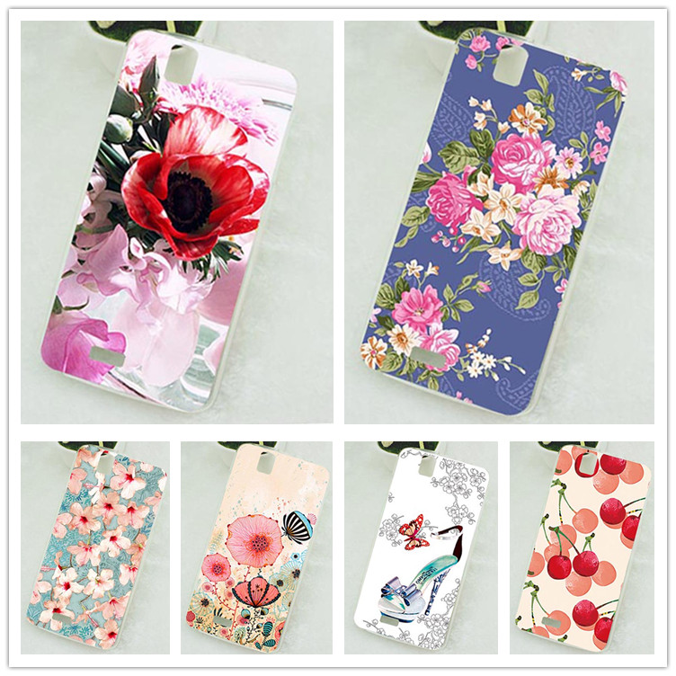 For Fly IQ4503 IQ 4503 Case Cover Luxury Diy UV Painted Colored Soft Tpu Case For Fly IQ4503 Quad Era Life 6 5.0 Cover Sheer