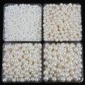 6mm-28mm agujeros rectos ronda de marfil de imitación Perlas de plástico Para DIY accesorios De Joyería de Perlas y Joyas hacer A10
