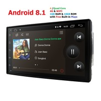 4G 2din android 8.1 car radio auto Bluetooth single din multimedia player universal GPS Navigation 1024*600 swc dab tpms rds map