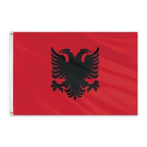 Johnin 90*150cm ALB AL Bandera de Albania para Decoración