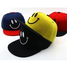 Hip Hop sombrero de los niños cara sonriente niño de dibujos animados gorra  de béisbol bordado 44ab741e198