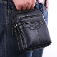 Men S Genuine Leather Messenger Shoulder Cross Body Bag Pouch Waist Fanny Belt Hip Bum Male