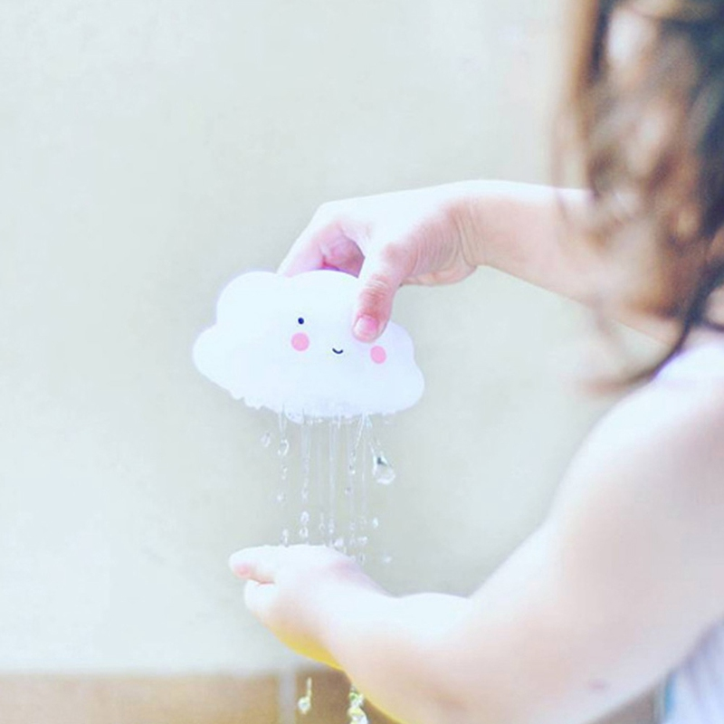 1pcs Baby Bathroom Play Water child baby toy early rain drops Cloudy Thunderstorm rainbow enlightenment teaching toy Gift