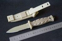 Trskt 고정 블레이드 칼 S30v 스틸 유리 섬유 핸들 ABS + 나일론 칼집 사냥 칼 생존 캠핑 나이프 야외 도구