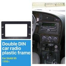 Seicane Doppio Din Auto Radio Fascia per 1998 + SAAB 95 Cruscotto CD Lettore DVD GPS di Montaggio Adattatore Stereo colore nero