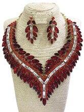 BIG SIZE Rhine-stone jewelry sets COLOURS women fashion necklace fine wedding gold rhinestone Earring